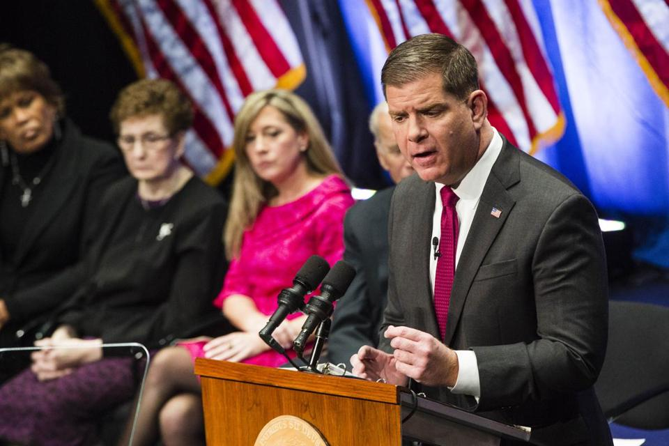 Boston Mayor Martin J. Walsh delivered his second inauguration speech on Monday.