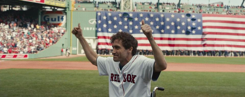 "Jake Gyllenhaal in ""Stronger."""