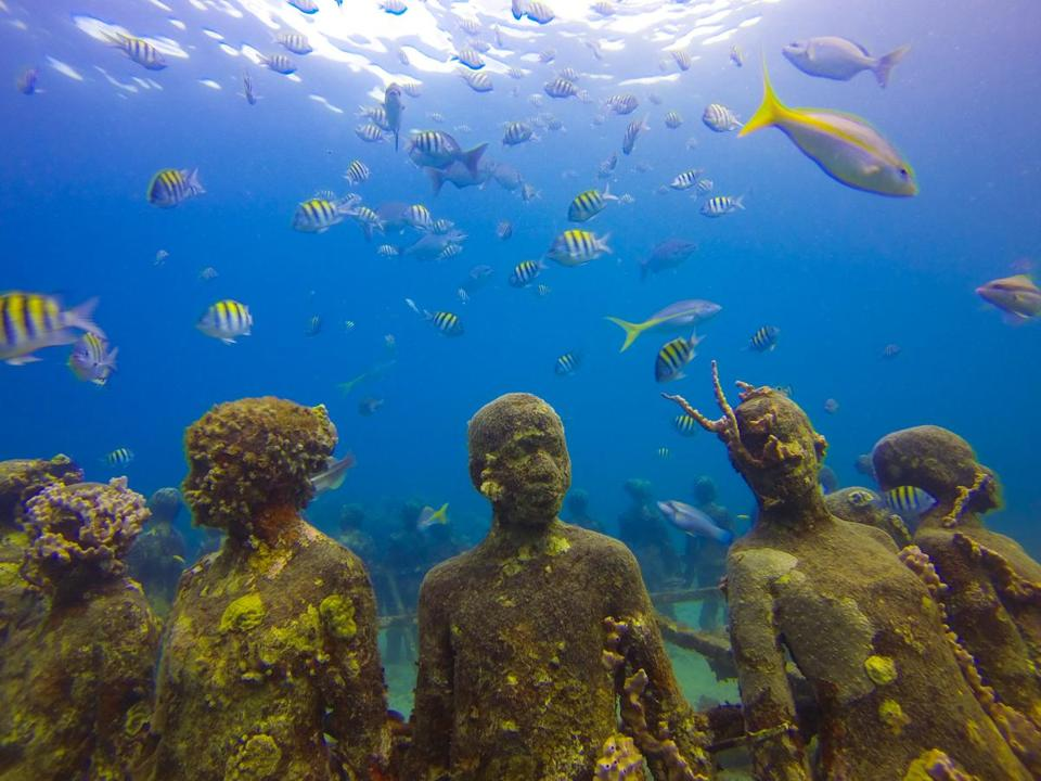 Underwater sculpture park in Grenada.