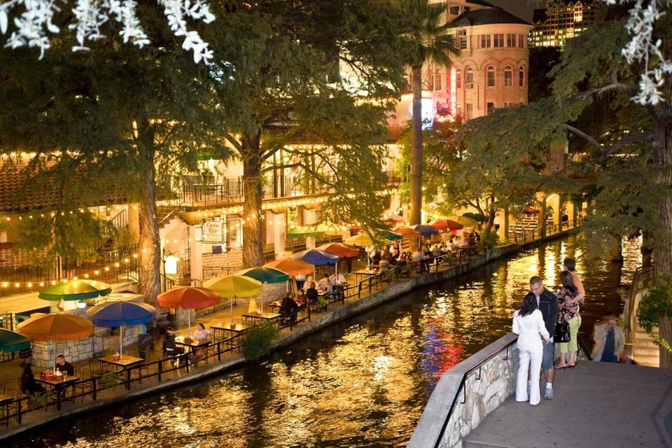 The Riverwalk in San Antonio.