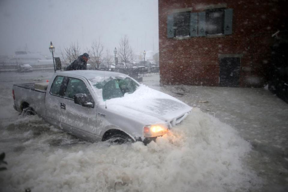 The ocean storm surge from storms this winter flooded neighborhoods across Boston.