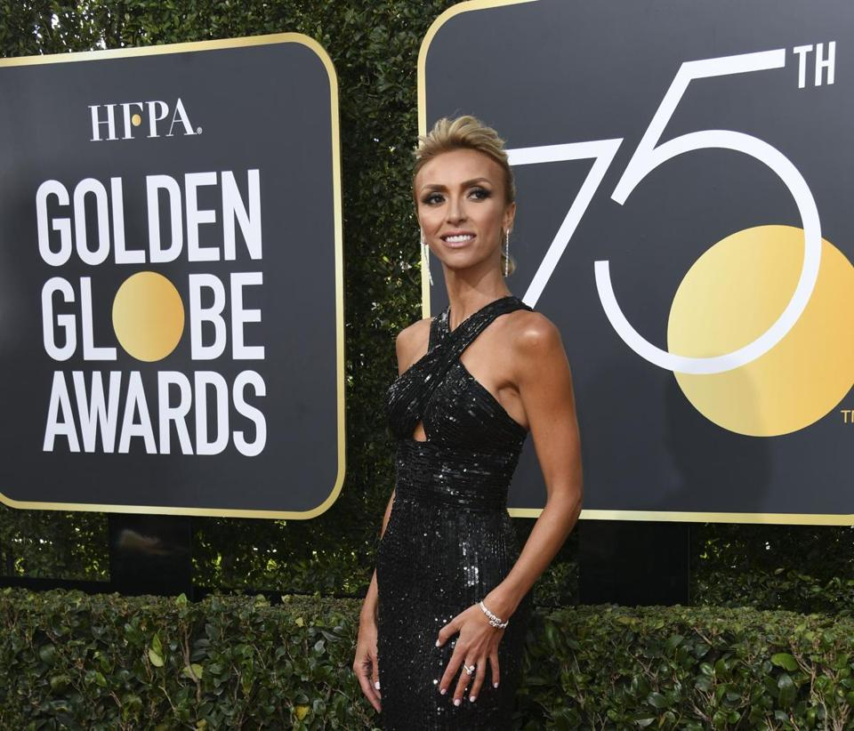 Giuliana Rancic arrives for the 75th Golden Globe Awards on January 7, 2018, in Beverly Hills, California. / AFP PHOTO / VALERIE MACONVALERIE MACON/AFP/Getty Images