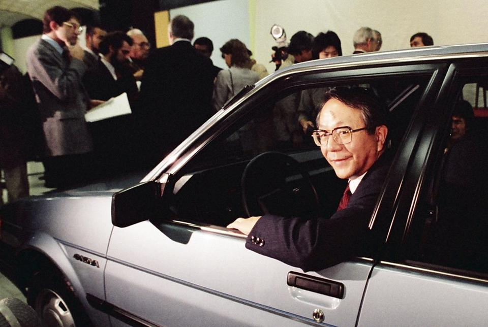 Mr. Toyoda, son of Toyota's founder, led the company's climb to rank among the world's top automakers.