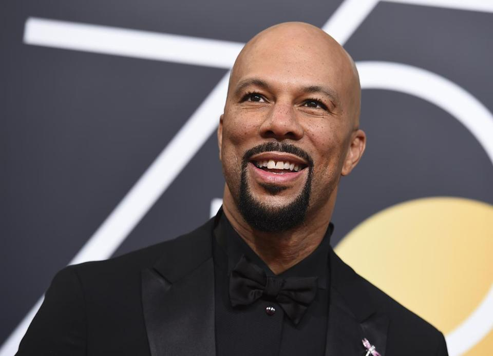 Common arrives at the 75th annual Golden Globe Awards at the Beverly Hilton Hotel on Sunday, Jan. 7, 2018, in Beverly Hills, Calif. (Photo by Jordan Strauss/Invision/AP)