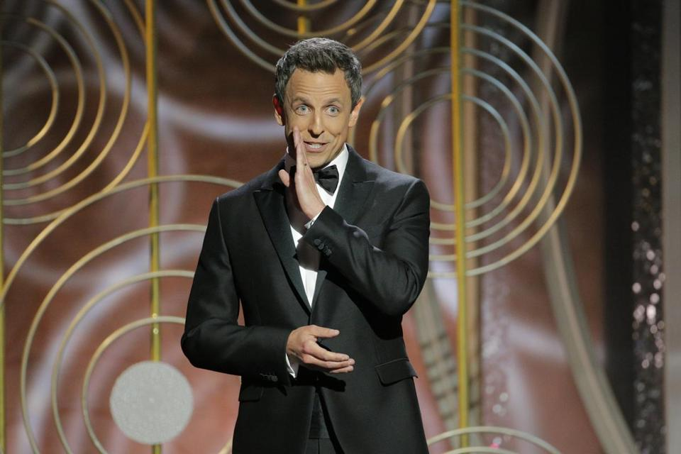 Seth Meyers was just fine hosting the Golden Globes for the first time.