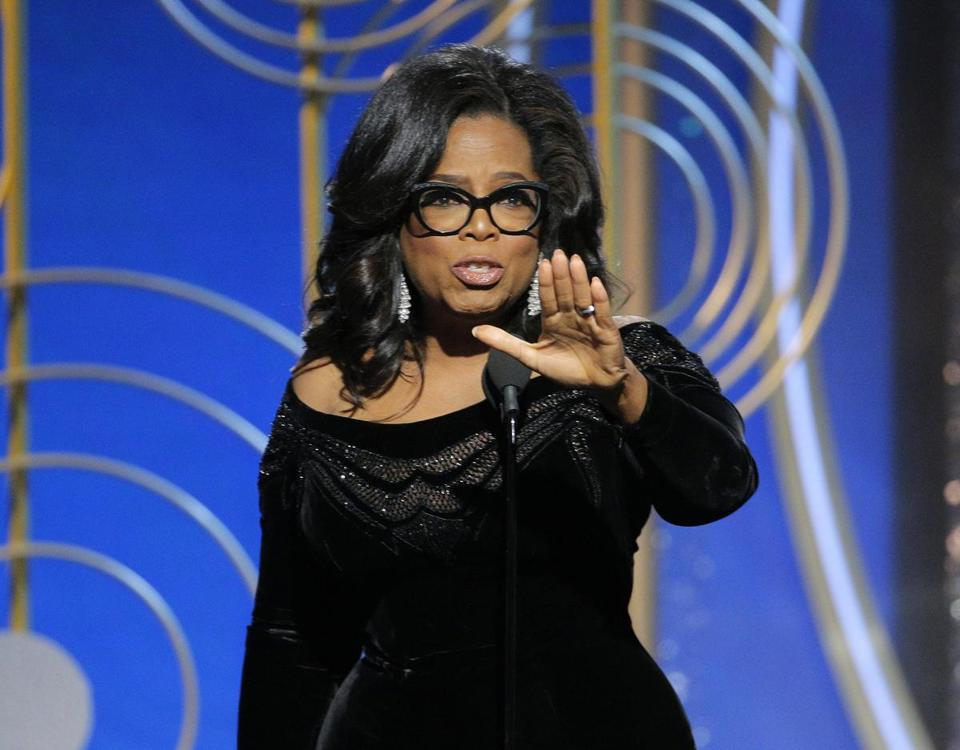 The emotion in Oprah Winfrey's speech was reminiscent of last year's speech by Meryl Streep.