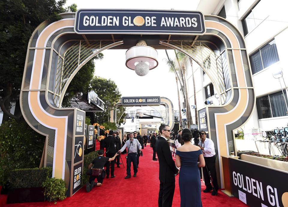 The red carpet at Sunday's 75th Golden Globe Awards.