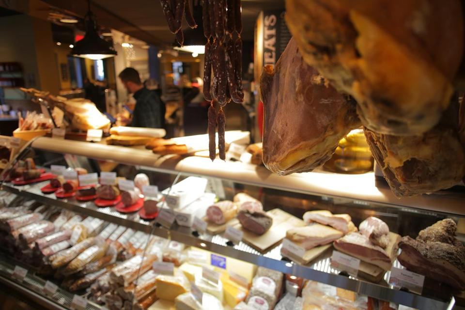 The meat case at Moody's Delicatessen & Provisions in the Back Bay.