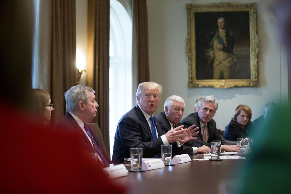 President Trump hosted a meeting on immigration on Tuesday.