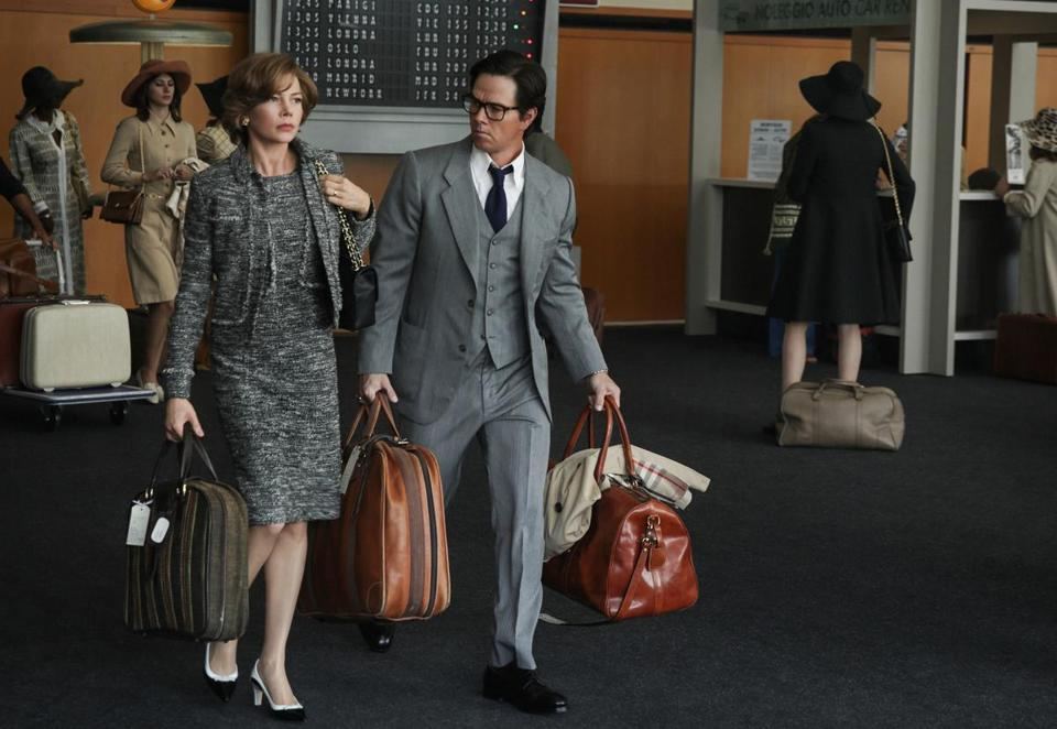 "Michelle Williams and Mark Wahlberg in ""All the Money in the World,"" for which Williams received less than $1,000 to Wahlberg's $1.5 million for reshooting scenes."