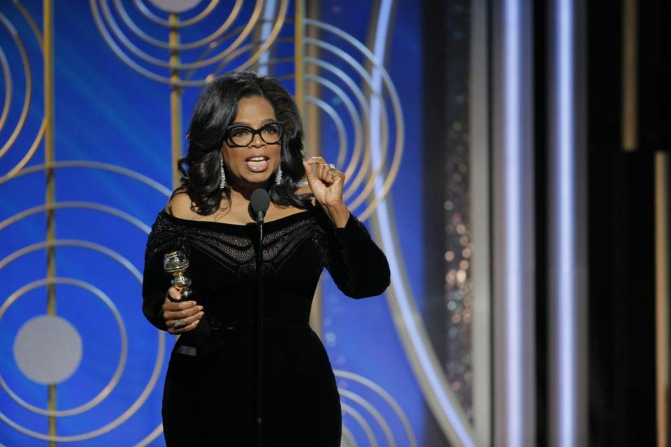 Oprah Winfrey accepted the Cecil B. DeMille Award at last week's Golden Globes.