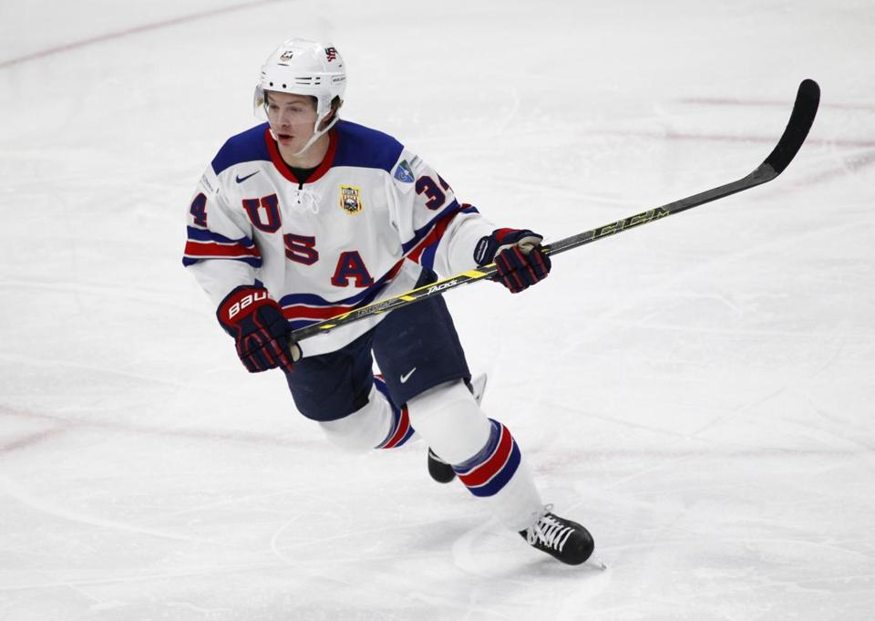 Bruins prospect Trent Frederic scored four goals for Team USA in the bronze medal game of the World Junior Championship.