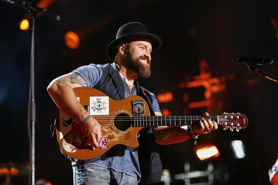 Zac Brown performing in Nashville in 2015.