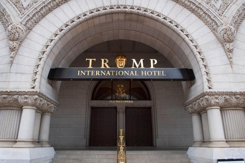 'Shithole' projection onto Trump's DC Hotel
