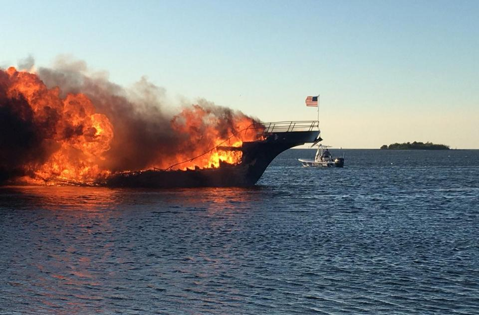 Cruise boat shuttle catches fire, 50 rescued from Gulf of Mexico waters
