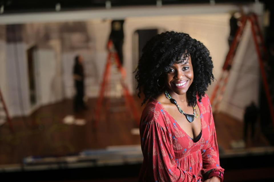 "Haneefah Wood stars in Huntington Theatre Company's production of ""Bad Dates."""