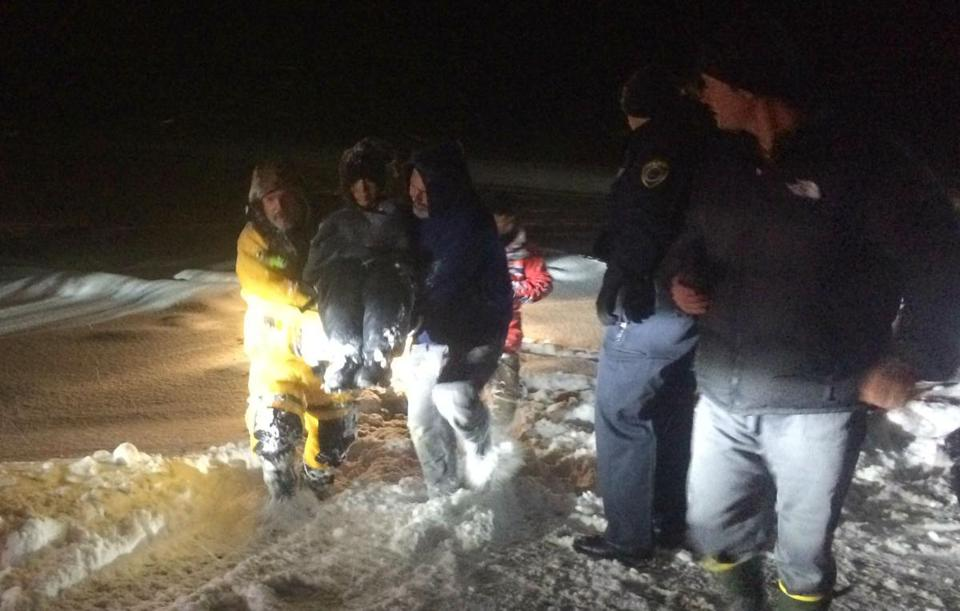 Dad, 2 Teens Rescued From Icy Pond in Maine