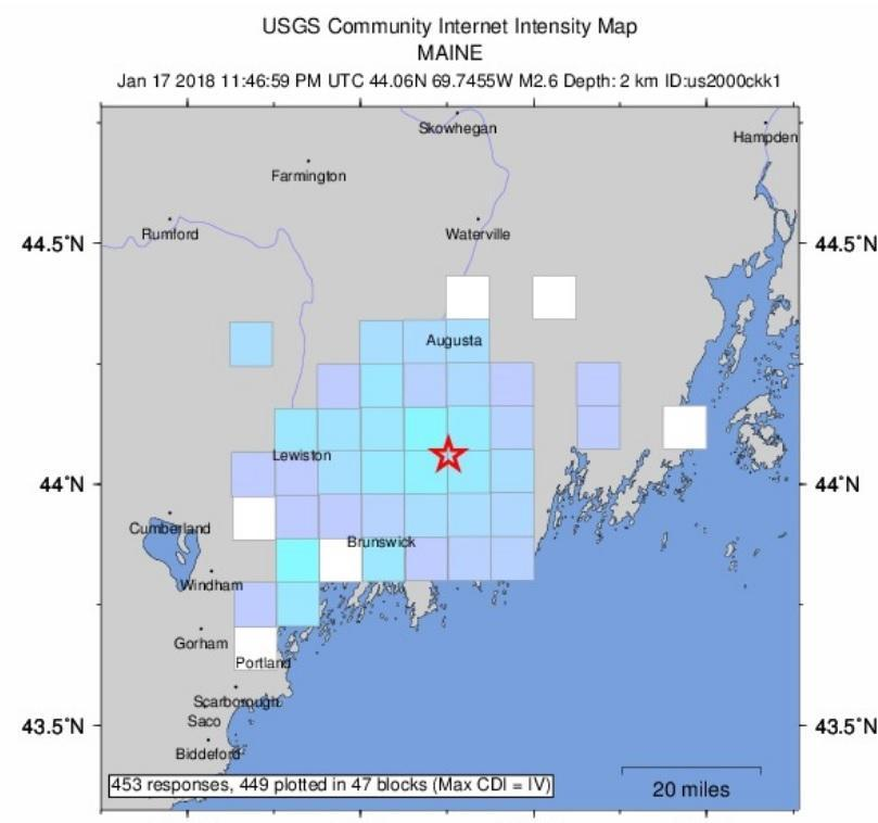 2.6 magnitude quake rattles Midcoast area
