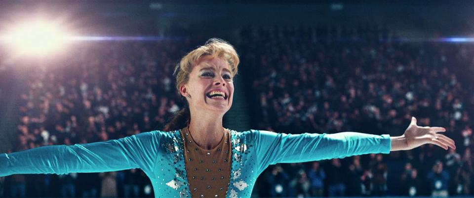 "Margot Robbie as Tonya Harding in a scene from ""I, Tonya."""