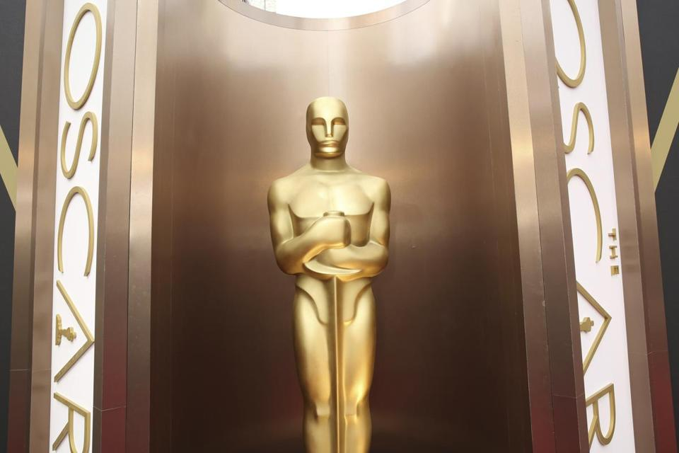 FILE - In this March 2, 2014 file photo, an Oscar statue is displayed at the Oscars at the Dolby Theatre in Los Angeles. Nominations for the 90th Oscars will be announced on Tuesday, Jan. 23, 2018. (Photo by)