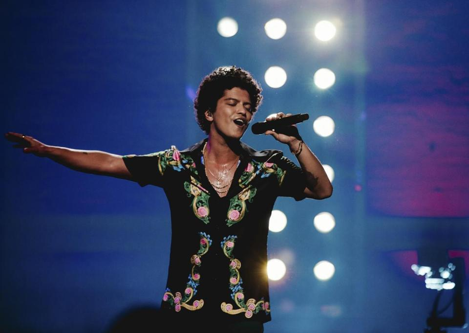 Bruno Mars will be among the performers at Sunday's Grammy Awards.