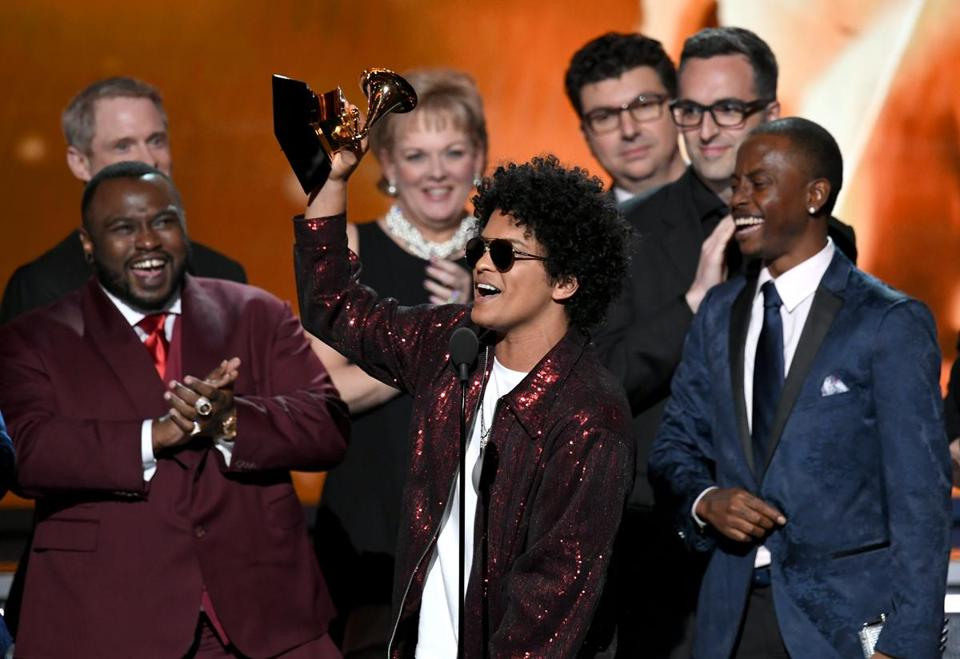 Bruno Mars And Cardi B Bring Funk And 'Finesse' To Grammys Performance