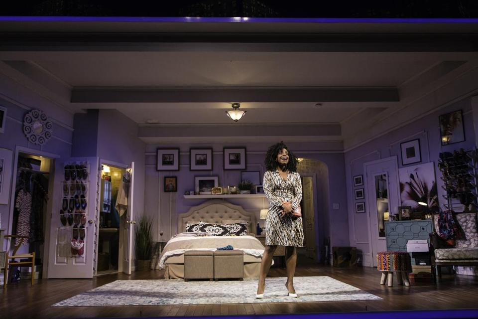 "Haneefah Wood in ""Bad Dates"" at Huntington Theatre Company."
