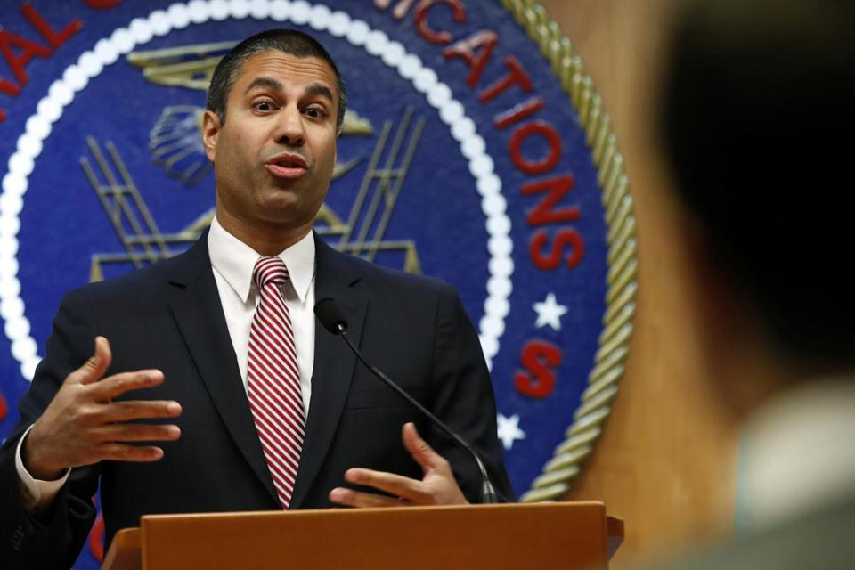 Federal Communications Commission chairman Ajit Pai was among many telecom regulators and industry groups voicing opposition Monday to the idea of a government-built wireless network.