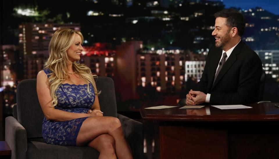 "Stormy Daniels appeared on ""Jimmy Kimmel Live!"" on Jan. 30."