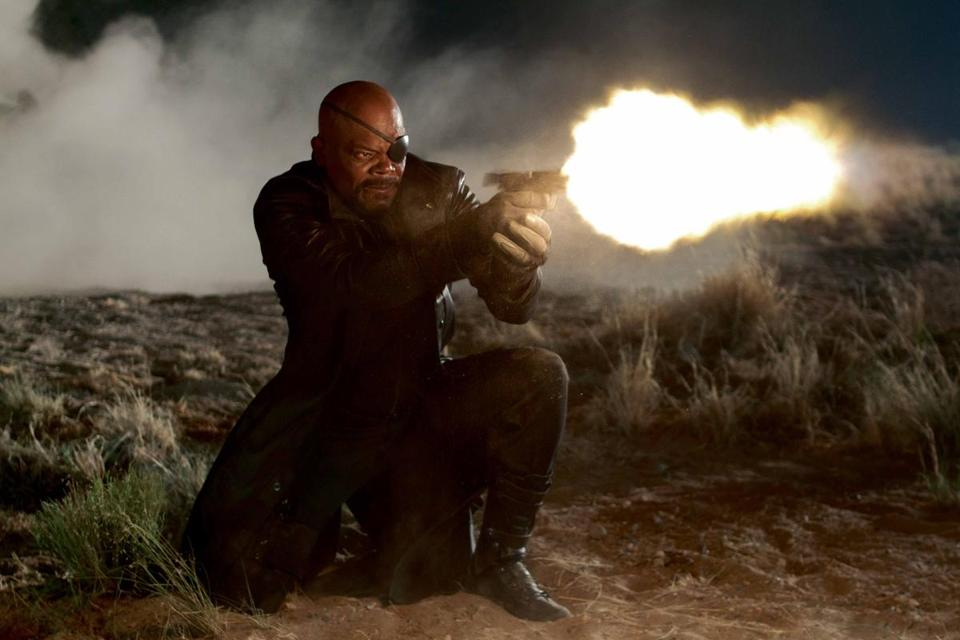 "Samuel L. Jackson as Nick Fury in ""The Avengers."""