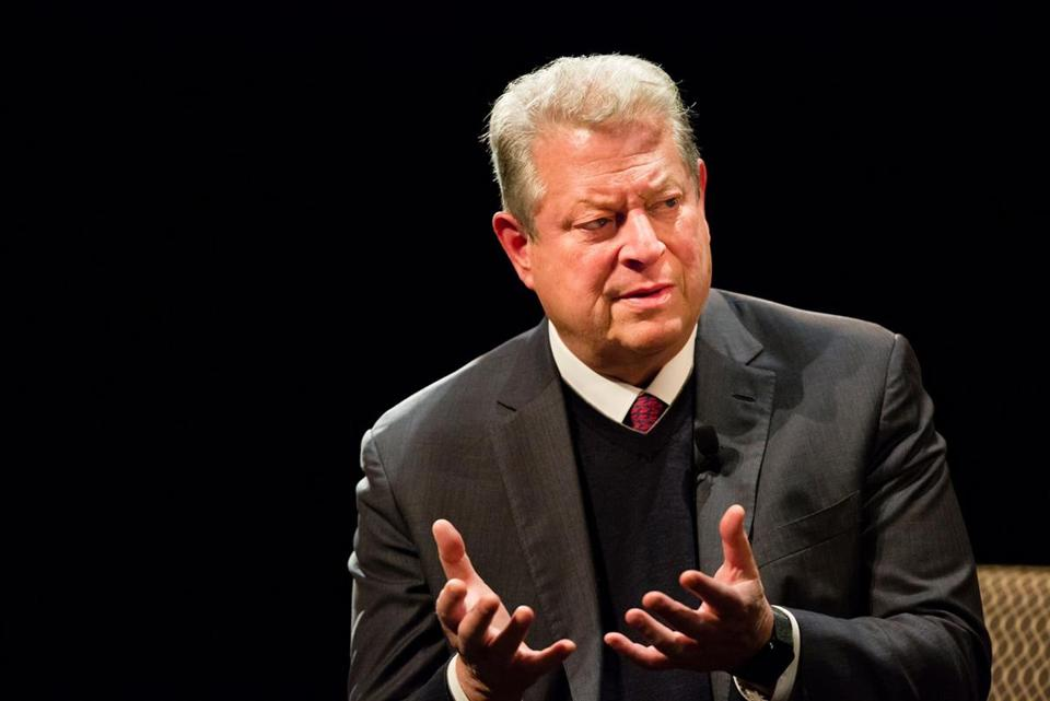 Former vice president Al Gore visited Tufts University on Wednesday.