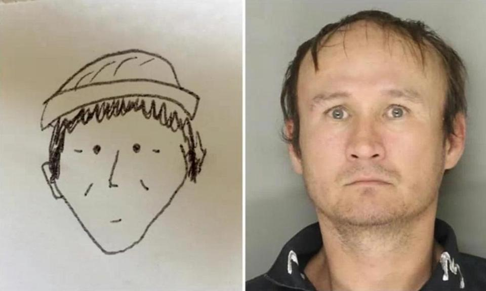 'Cartoonish' sketch of criminal helps police to identify suspect