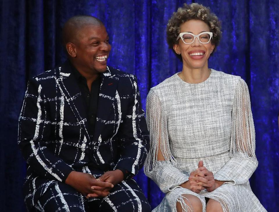 Artists Kehinde Wiley (left) and Amy Sherald.