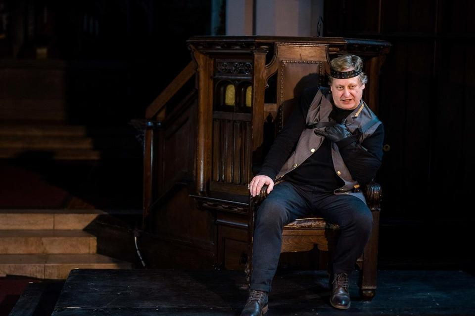 "Steven Barkhimer as the title figure in ""Richard III."""