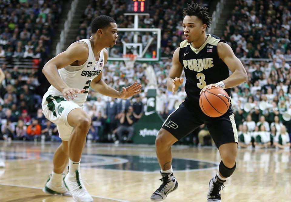 Purdue lost to both Michigan State (above) and Ohio State last week.