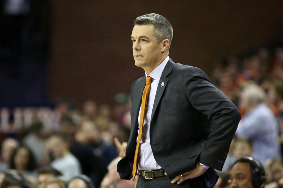 CHARLOTTESVILLE, VA - February 10: Head coach Tony Bennett of the Virginia Cavaliers watches a play in overtime during a game against the Virginia Tech Hokies at John Paul Jones Arena on February 10, 2018 in Charlottesville, Virginia. Virginia Tech defeated Virginia 61-60. (Photo by Ryan M. Kelly/Getty Images)