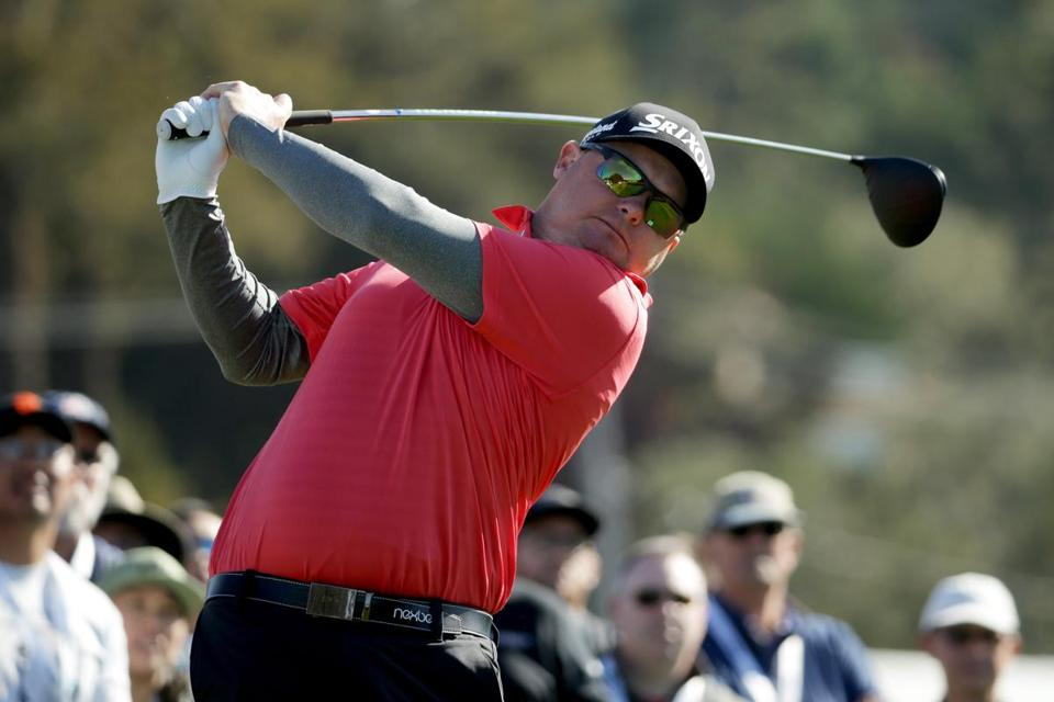 PEBBLE BEACH, CA - FEBRUARY 11: Ted Potter Jr. plays his shot from the third tee during the Final Round of the AT&T Pebble Beach Pro-Am at Pebble Beach Golf Links on February 11, 2018 in Pebble Beach, California. (Photo by Jeff Gross/Getty Images)