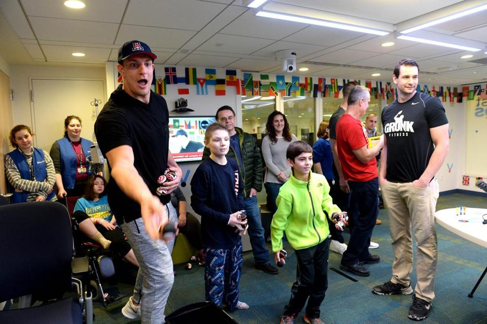 Gronk donates to hospitals in Mass., Maine, and RI