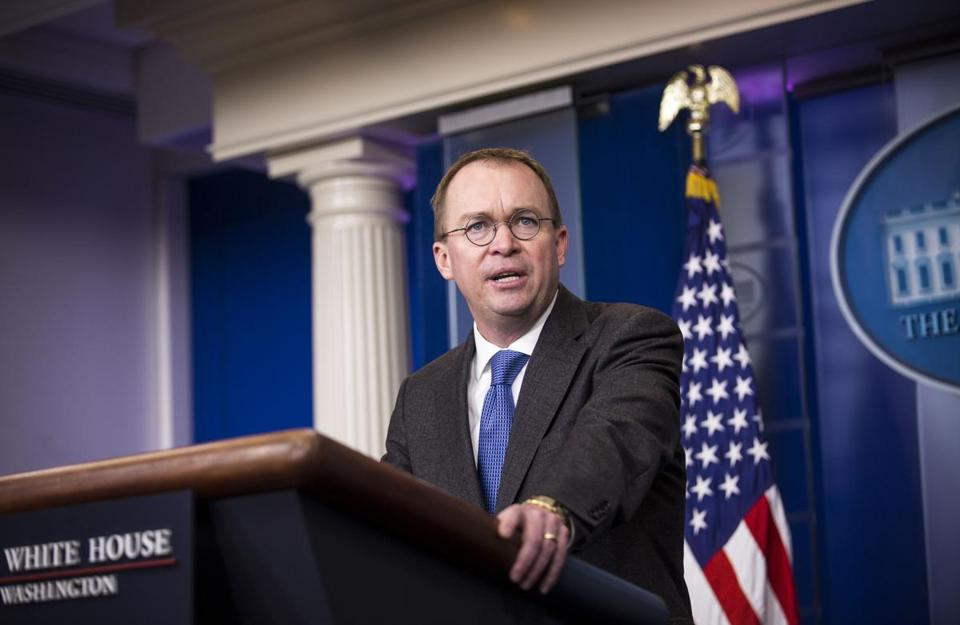 Trump budget director Mick Mulvaney sees need for caps.