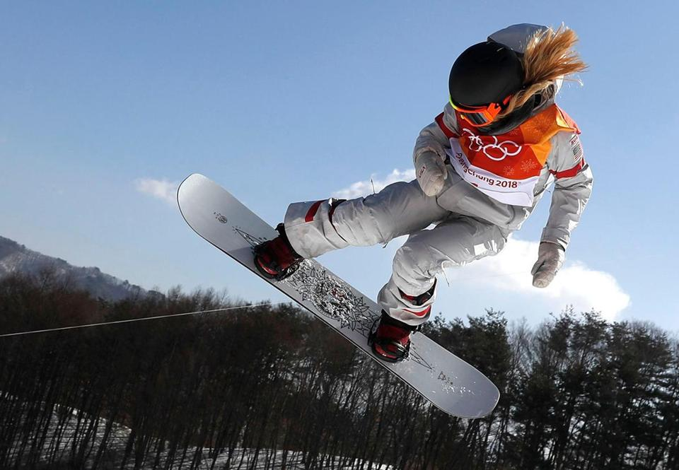 Mandatory Credit: Photo by SERGEI ILNITSKY/EPA-EFE/REX/Shutterstock (9374951bb) Chloe Kim of the US in action during the Women's Snowboard Halfpipe final at the Bokwang Phoenix Park during the PyeongChang 2018 Olympic Games, South Korea, 13 February 2018. Snowboard - PyeongChang 2018 Olympic Games, Bongpyeong-Myeon, Korea - 13 Feb 2018