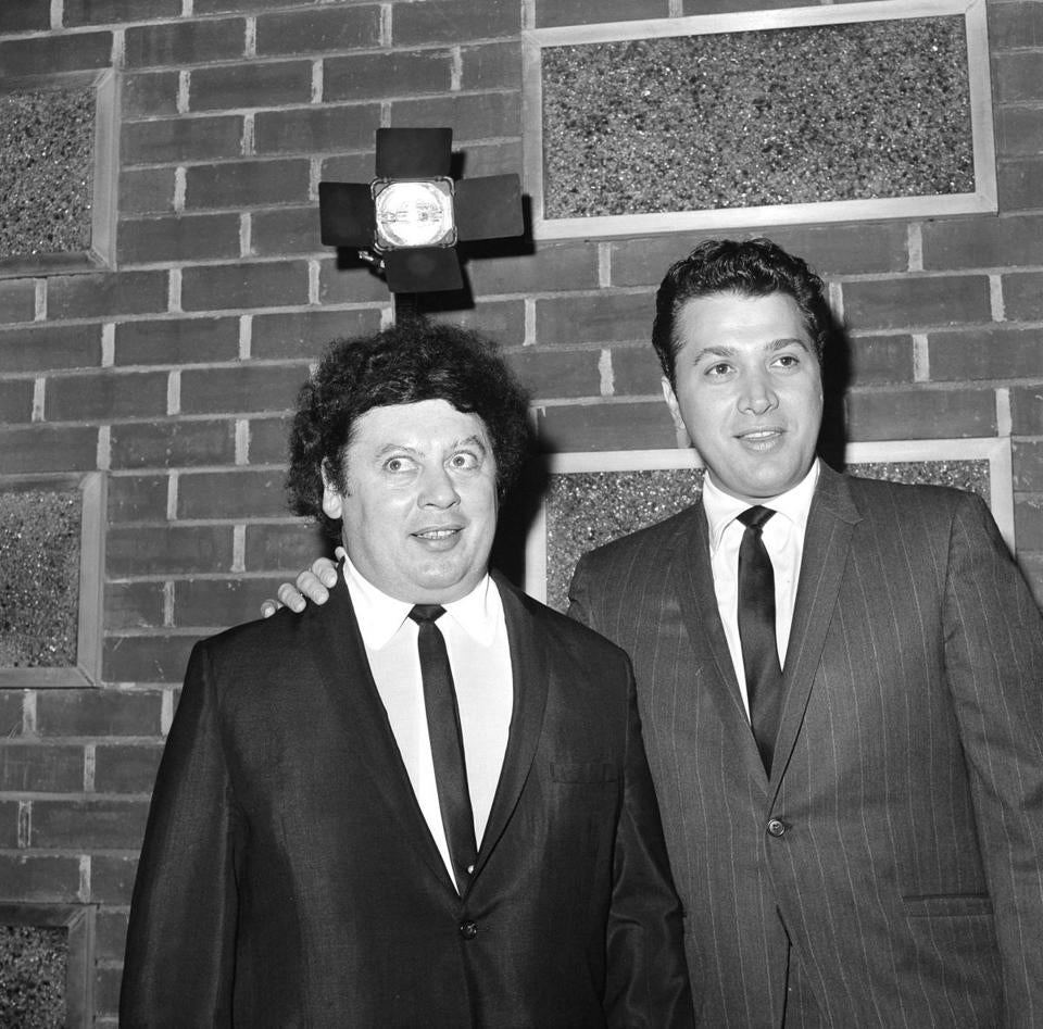 Mr. Allen (left) joined Steve Rossi in comedic routines on stage and television.