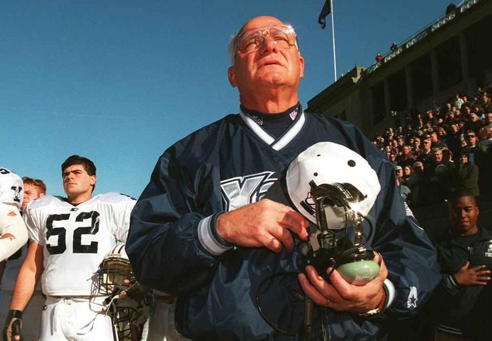 Yale legend Carm Cozza holds the Ivy League record for most coaching wins.