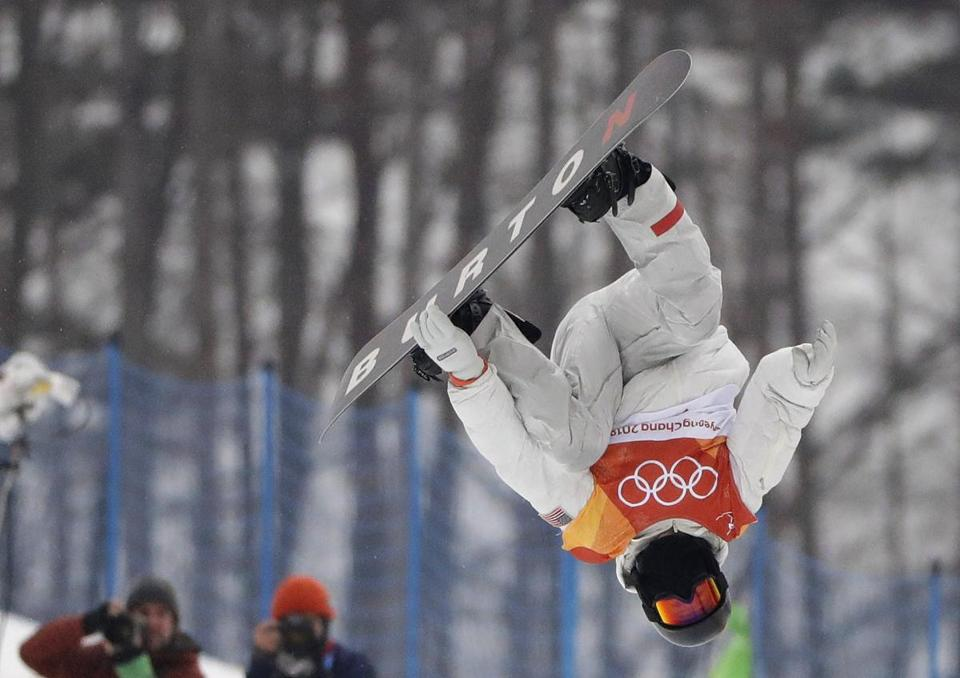 White jumped during the halfpipe competition.