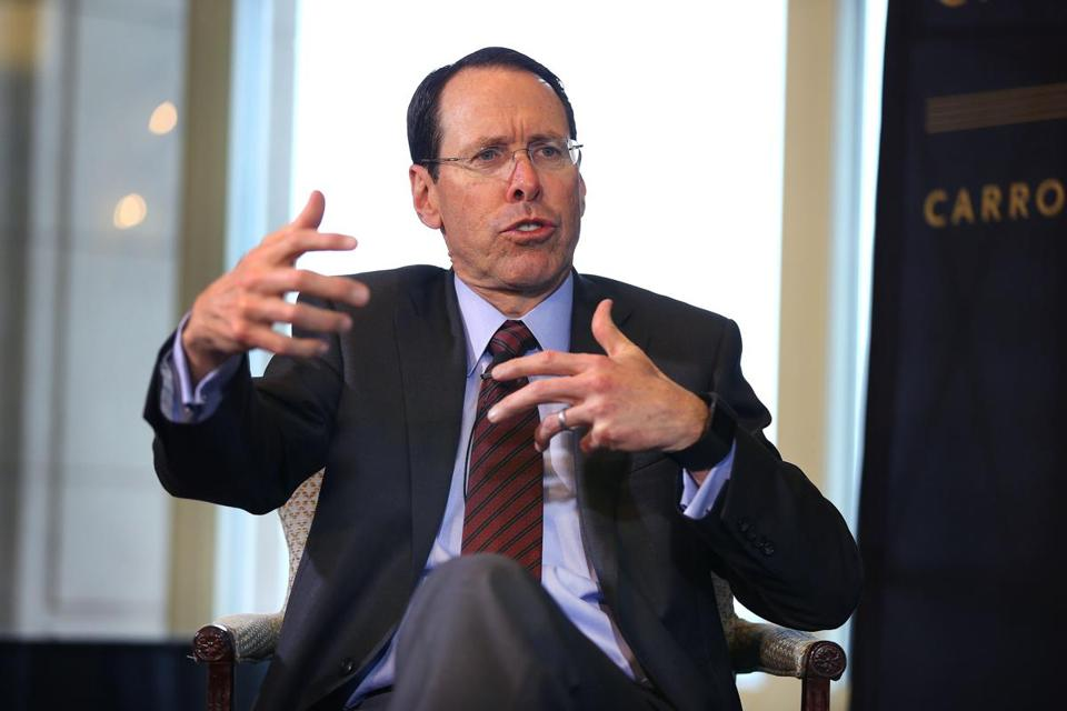 Boston -02/15/18 Randall Stephenson, CEO of AT&T spoke at the Boston College Chief Executives Club luncheon at the Boston Harbor Hotel. John Tlumacki/Globe Staff(business)