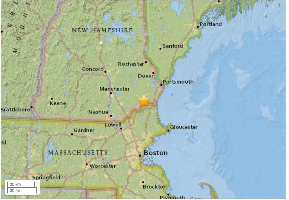 Hundreds report feeling 2.7-magnitude quake near NH-Mass. border