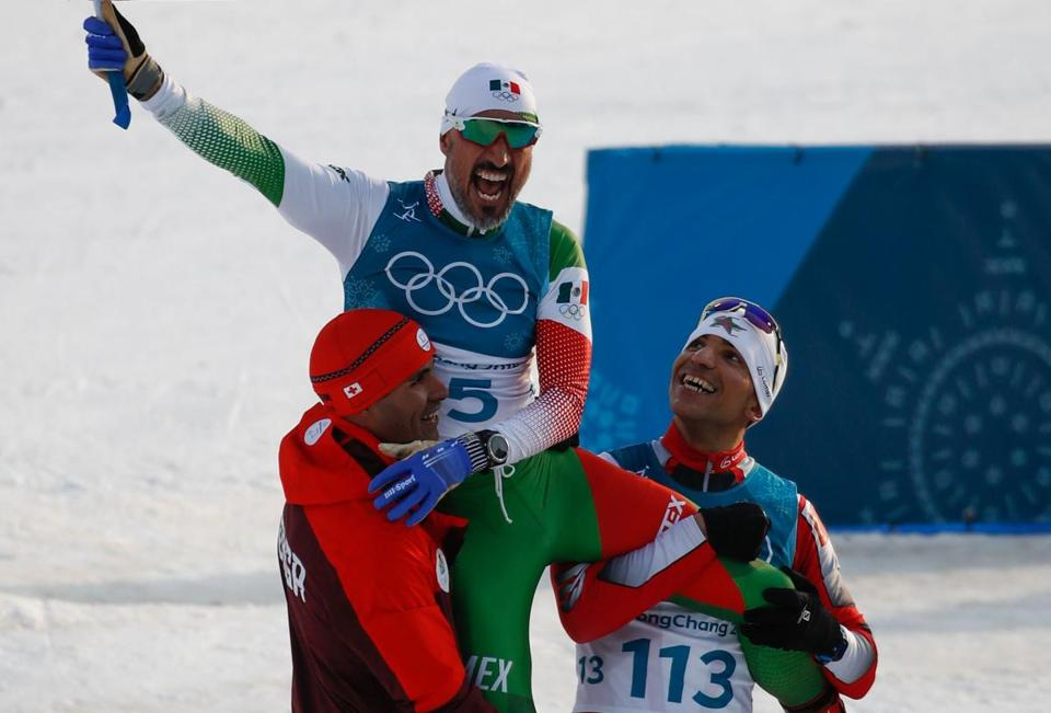 Olympic skier from Mexico crossed finish line last, greeted like a champion