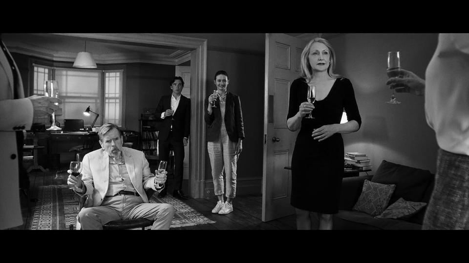 "From left: Timothy Spall, Cillian Murphy, Emily Mortimer, and Patricia Clarkson in ""The Party."""
