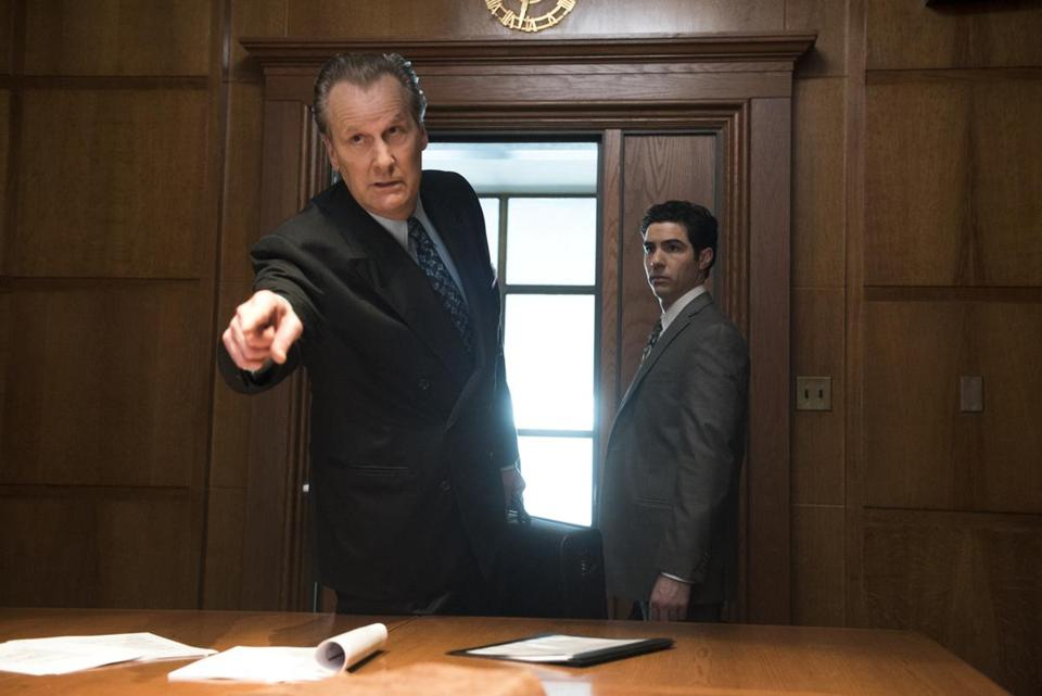 "Jeff Daniels and Tahar Rahim in Hulu's ""The Looming Tower."""