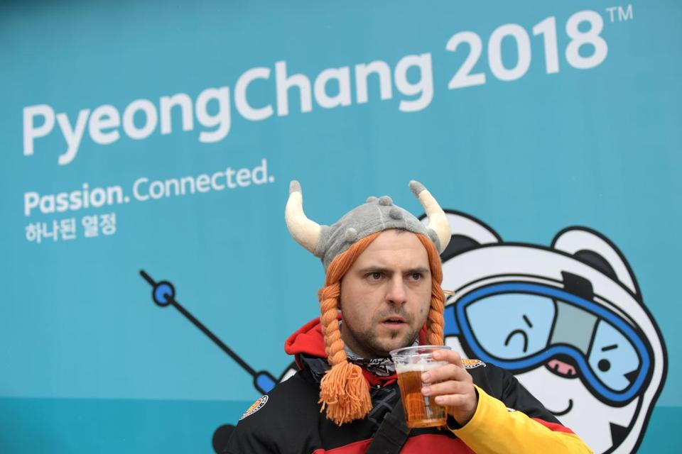 German athletes enjoy their alcohol-free beers at Winter Olympics