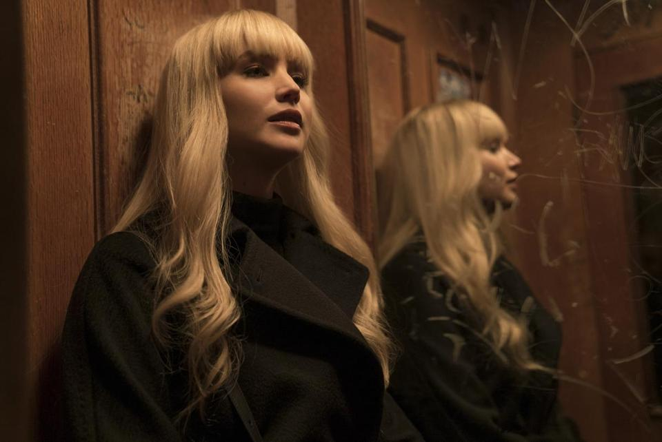 "Jennifer Lawrence plays a prima ballerina turned Russian agent in ""Red Sparrow."""